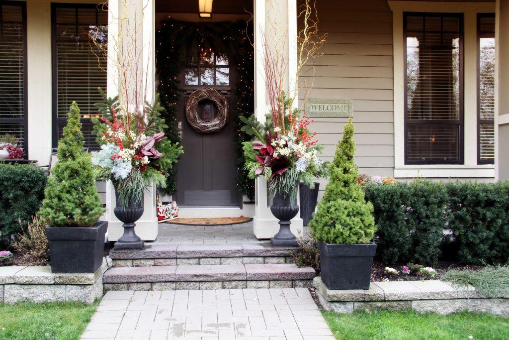 jardín en navidad
